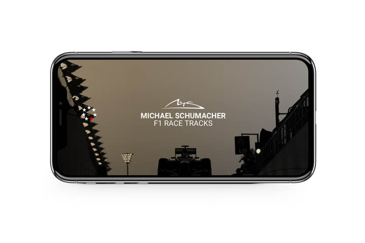 Loadscreen, Bilder, HTML5 Webapp, iOS, Android, Formel 1, Michael Schumacher, Weltmeister, offizielle App, Keep Fighting